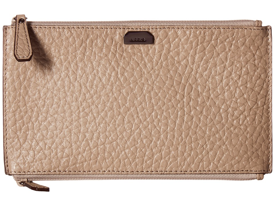 Lodis Accessories - Borrego RFID Under Lock Key Lani Double Zip Pouch (Taupe) Travel Pouch