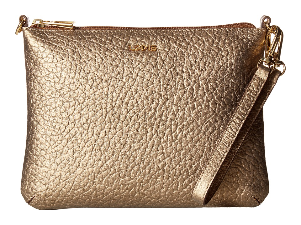 Lodis Accessories - Borrego Emily Clutch Crossbody (Bronze) Cross Body Handbags