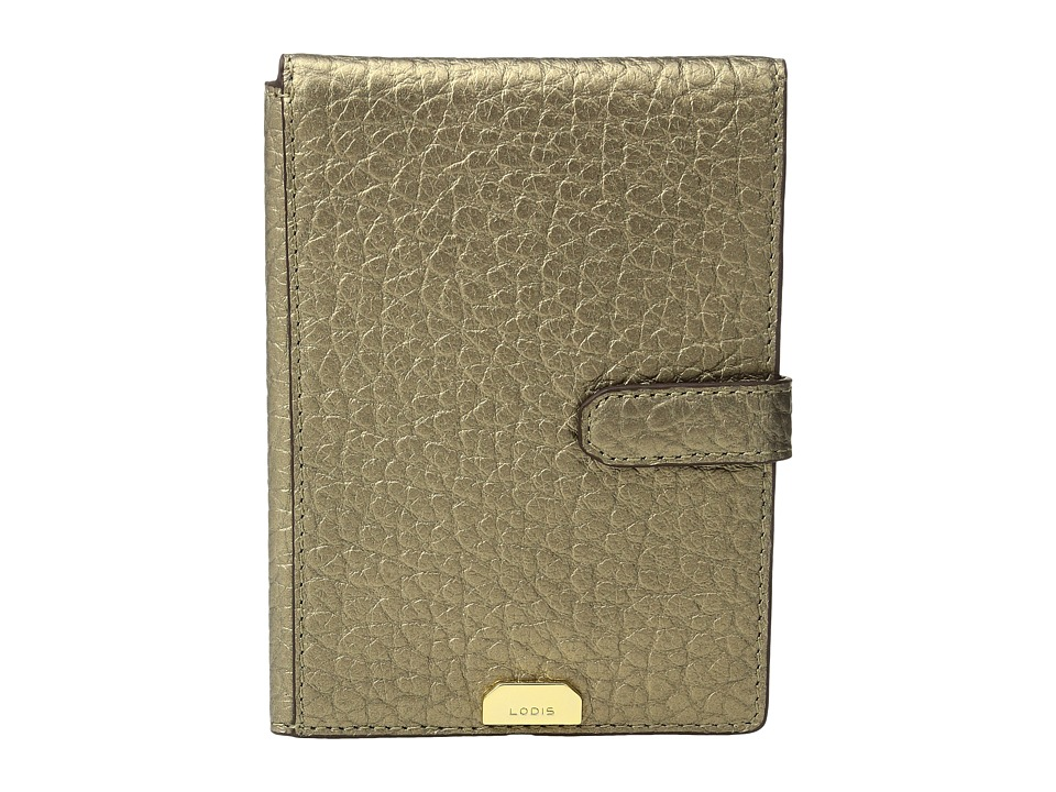 Lodis Accessories - Borrego RFID Under Lock Key Passport Wallet with Ticket Flap (Bronze) Wallet Handbags