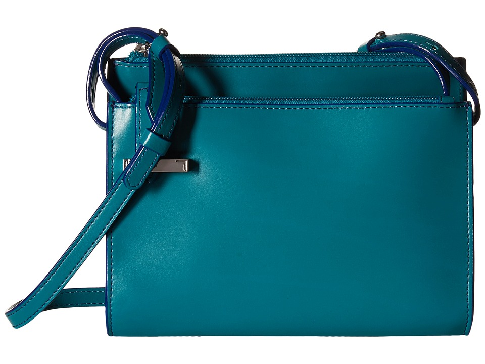 Lodis Accessories - Audrey Trisha Double Zip Wallet On A String (Ivy/Marine) Wallet Handbags