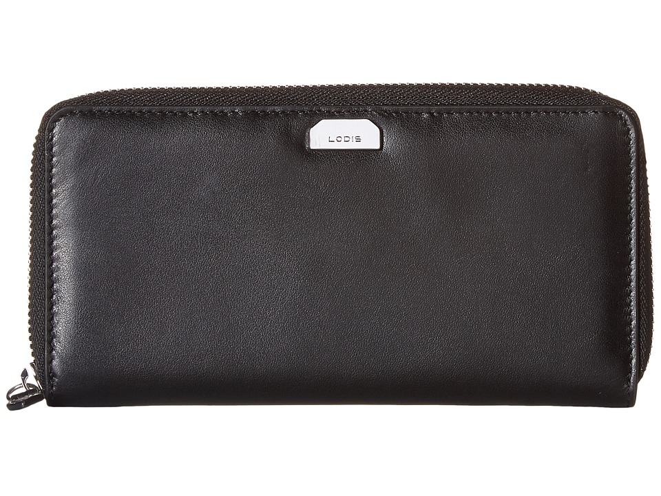 Lodis Accessories - Amy Ada Zip Wallet (Black) Wallet Handbags