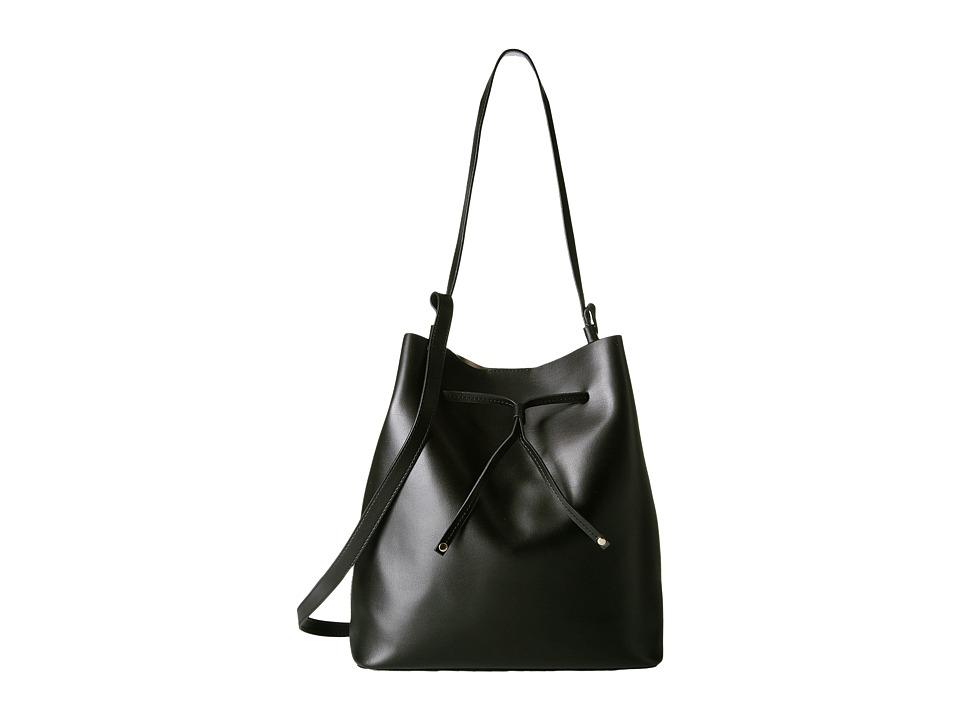 Lodis Accessories - Blair Halina Large Drawstring (Black/Taupe) Drawstring Handbags