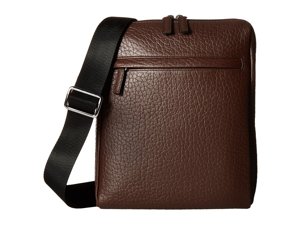 Lodis Accessories - Borrego RFID James Small Messenger (Dark Brown) Messenger Bags