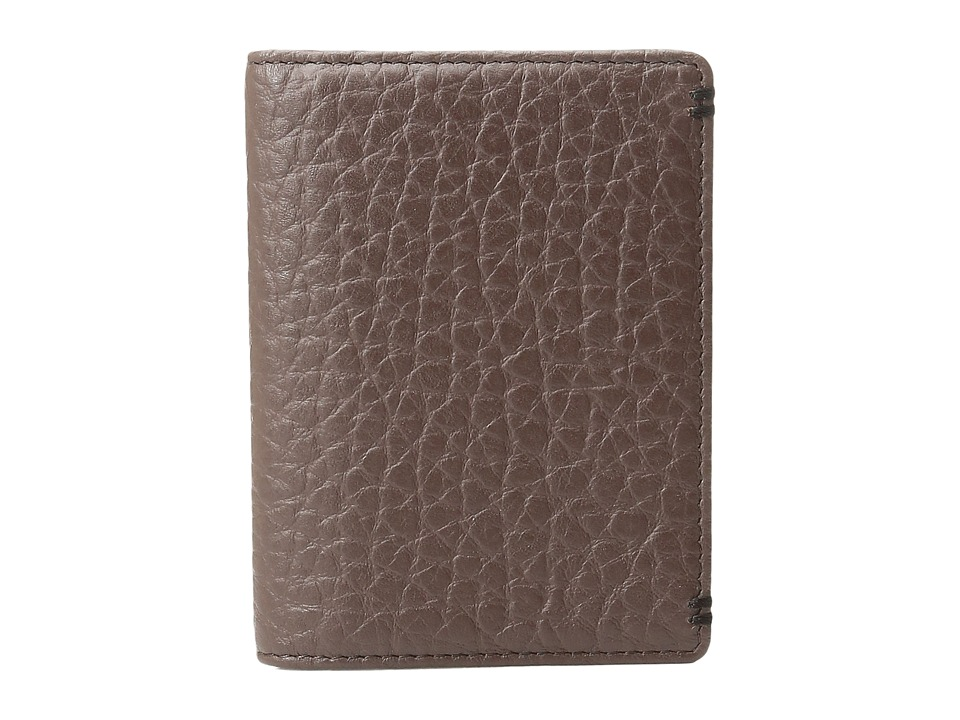 Lodis Accessories - Borrego RFID Harvey Money Clip Bifold (Dark Brown) Bi-fold Wallet