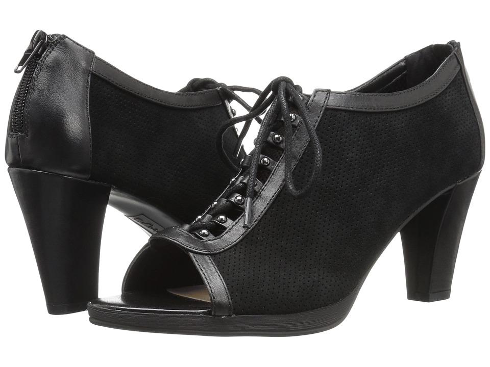 Bella-Vita - Lilo (Black Kid Suede Leather/Black) High Heels