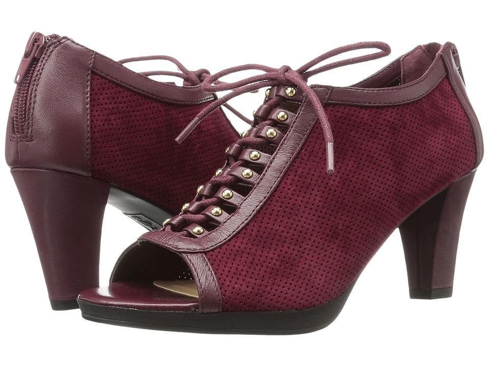 Bella-Vita - Lilo (Burgundy Kid Suede Leather/Burgundy) High Heels