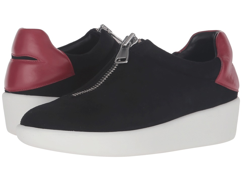 Alice + Olivia - Laney (Black Suede/Ruby Nappa) Women's Shoes