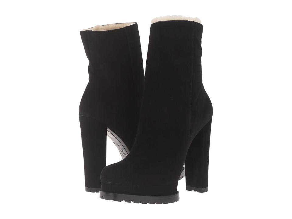 Alice + Olivia - Holden (Black Prime Suede) Women's Shoes