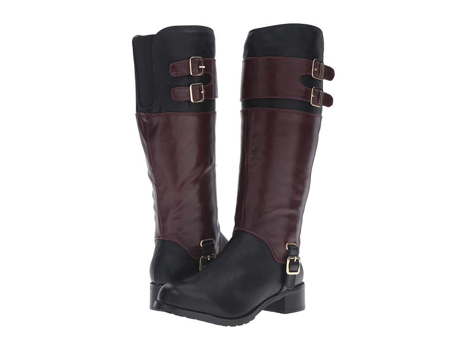 Bella-Vita - Adriann II (Black/Burgundy) Women's Boots