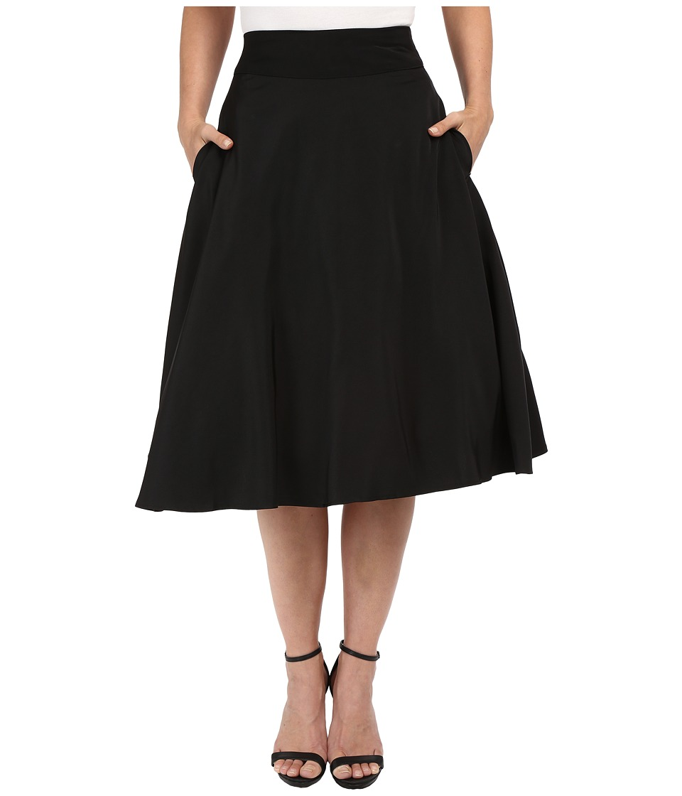 Unique Vintage - Vivien Swing Skirt (Black) Women's Skirt