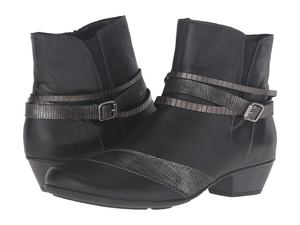 Rieker - D7397 Milla 97 (Schwarz/Schwarz Silber) Women's Boots