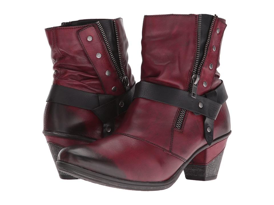 Rieker - D8772 Cheyenne 72 (Vino/Schwarz/Wine) Women's Boots