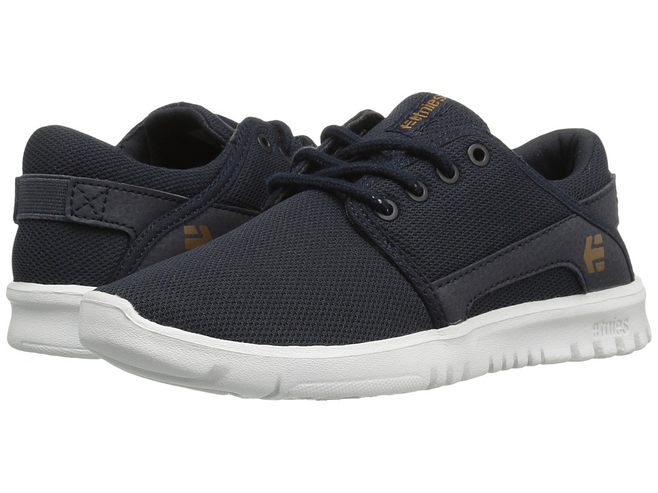 etnies Kids - Scout (Toddler/Little Kid/Big Kid) (Dark Navy Textile/Synthetic) Boys Shoes