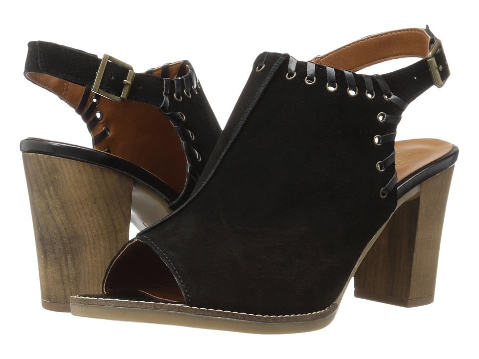 Bella-Vita Ora-Italy (Black Italian Suede Leather) High Heels