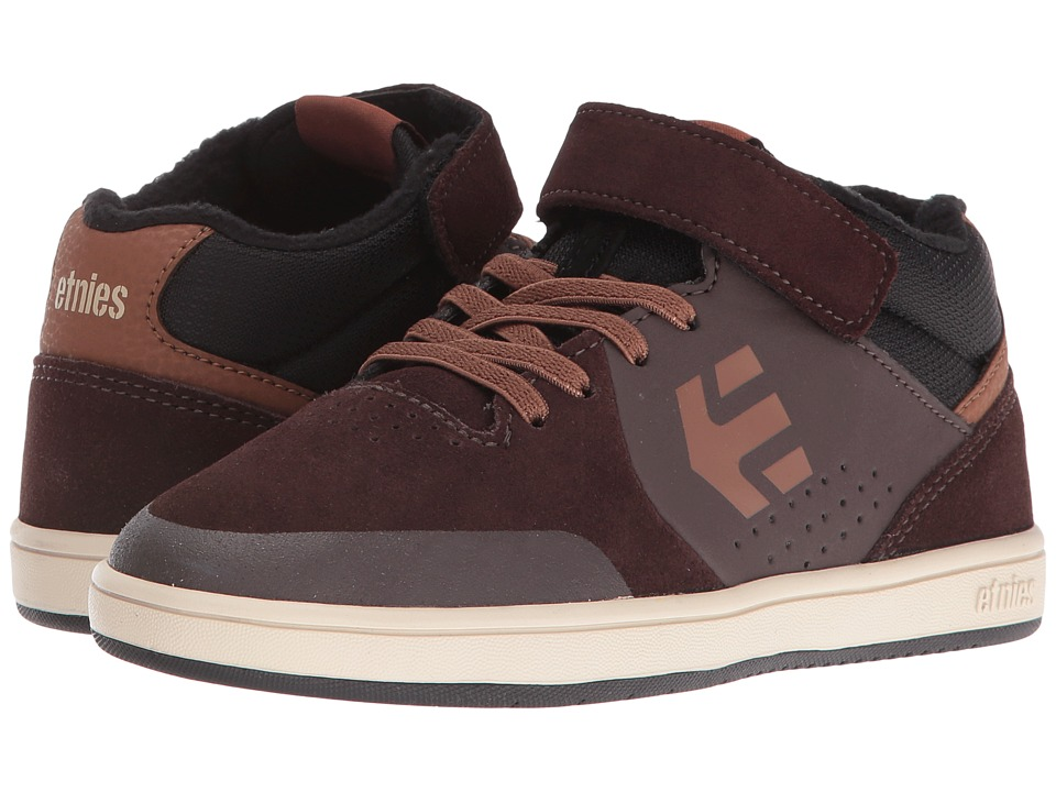 etnies Kids Marana MT (Toddler/Little Kid/Big Kid) (Brown/Black Suede/Textile/Synthetic 1) Boys Shoes