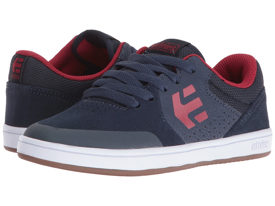 etnies Kids - Marana (Toddler/Little Kid/Big Kid) (Blue/Red/White Suede/Synthetic) Boys Shoes