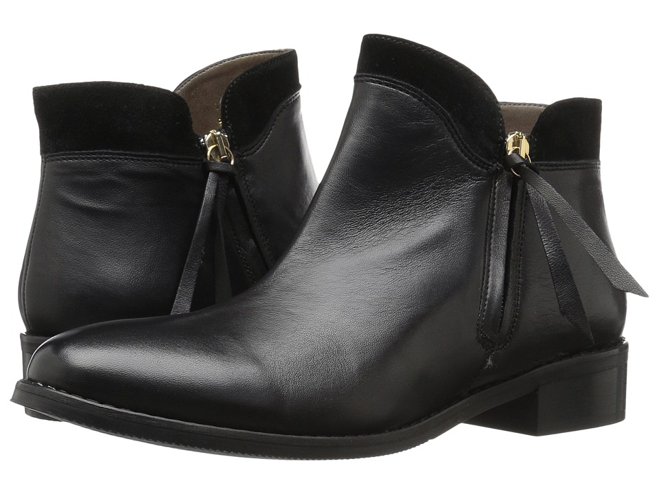 Bella-Vita - Dot-Italy (Black Italian Leather/Suede) Women's Boots