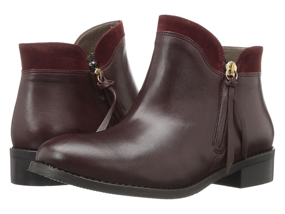 Bella-Vita - Dot-Italy (Bordeaux Italian Leather/Suede) Women's Boots