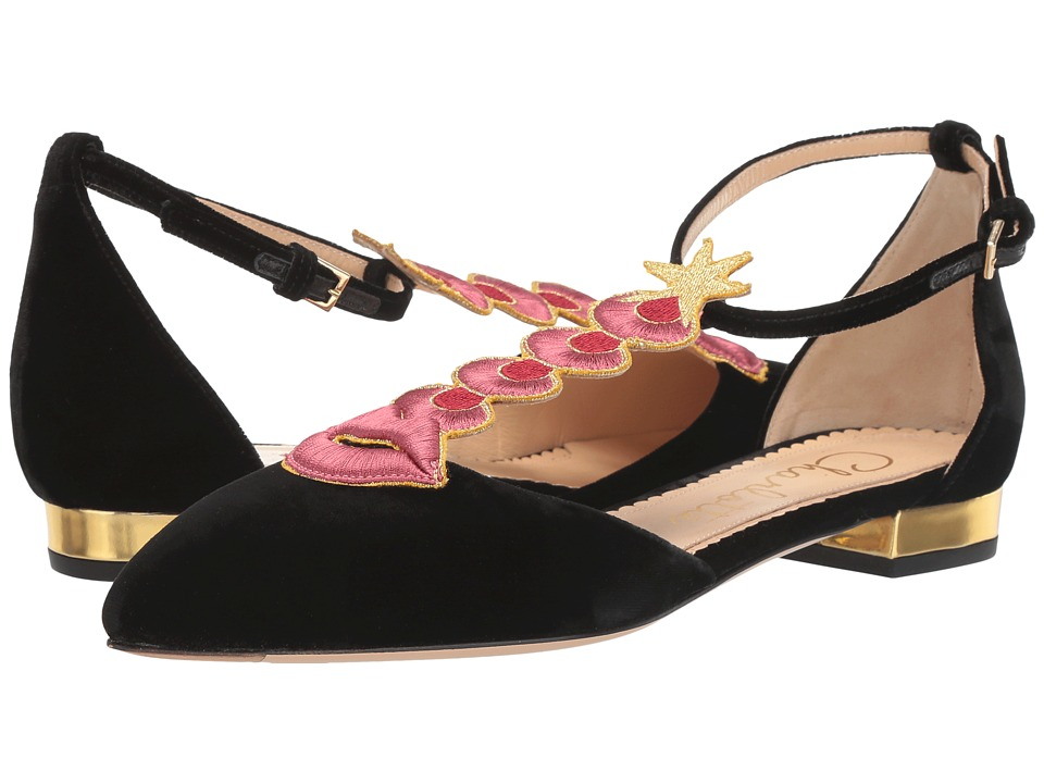 Charlotte Olympia - Sci Fi Flats (Black/Gold) Women's Dress Flat Shoes