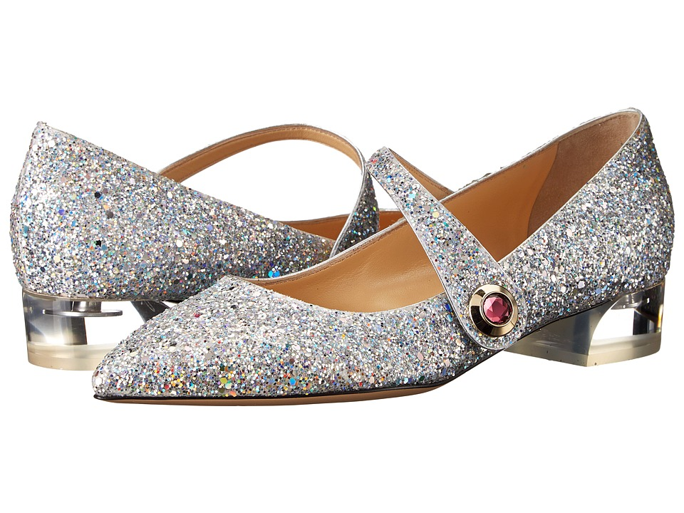 Charlotte Olympia - Uma (Fantasy Silver) Women's Dress Flat Shoes