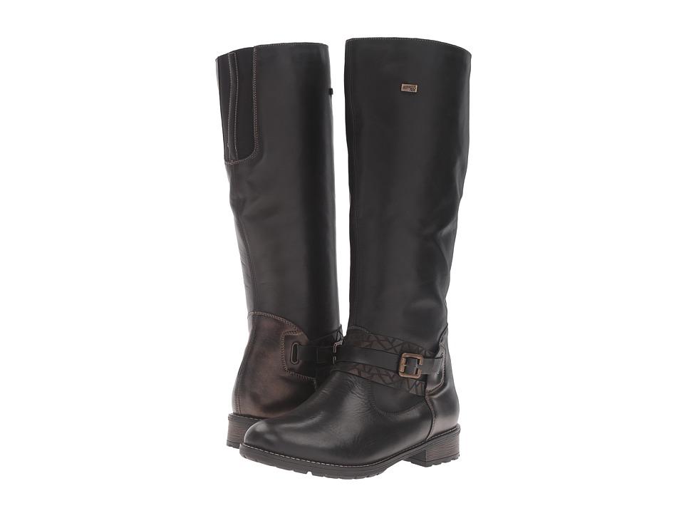 Rieker - R3333 Elaine 33 (Schwarz/Antik/Schwarz) Women's Boots