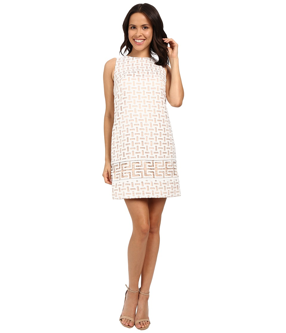 Vince Camuto - Sleeveless Organza Shift Dress (Ivory) Women's Dress