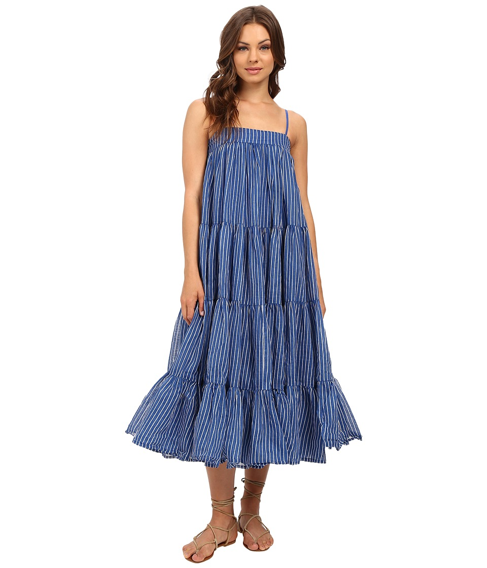 Mes Demoiselles - Eva (Stripes Blue) Women's Dress