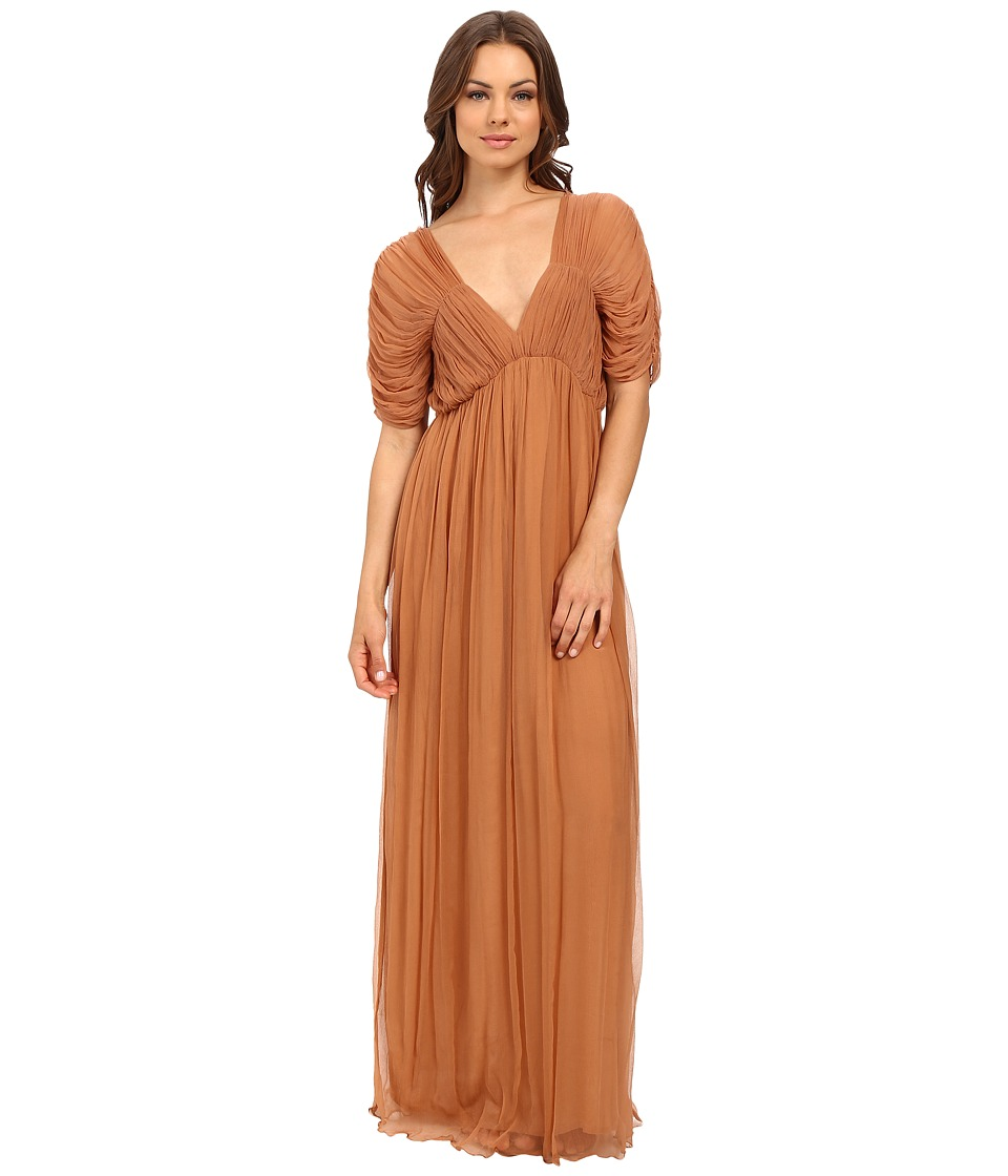Mes Demoiselles - Hermes (Terracotta) Women's Dress