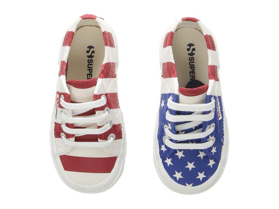Superga Kids - 2750 COTJ FLAG (USA) Kid's Shoes