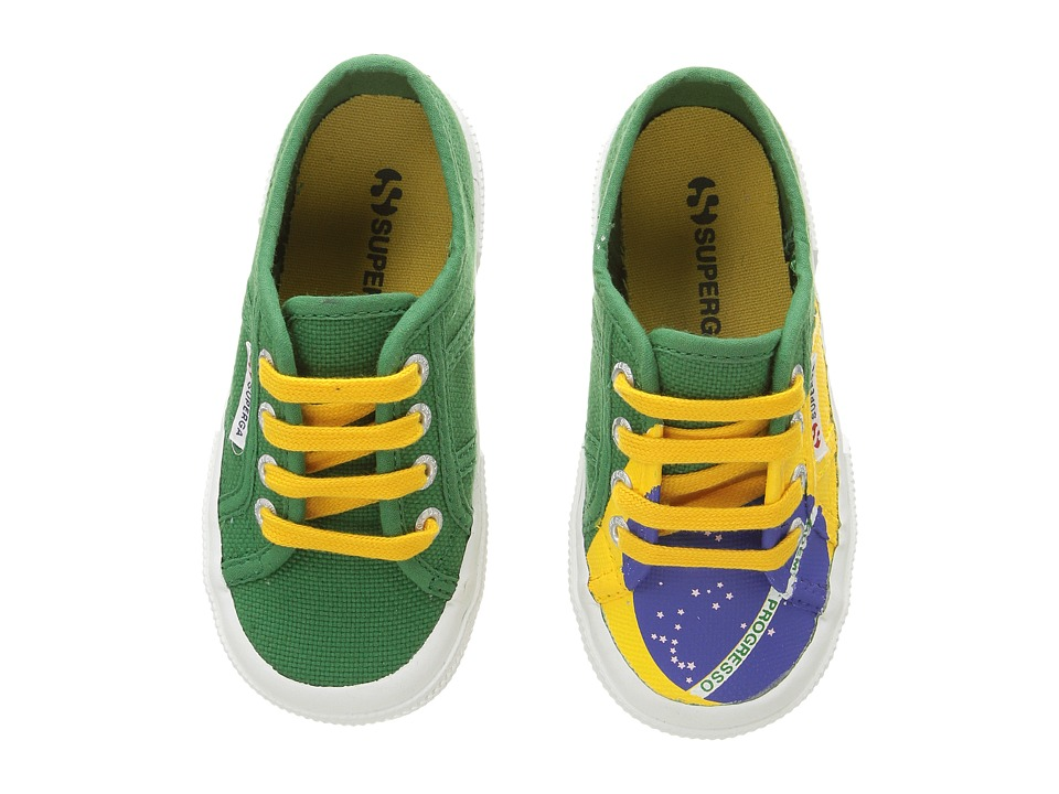 Superga Kids - 2750 COTJ FLAG (Brazil) Kid's Shoes