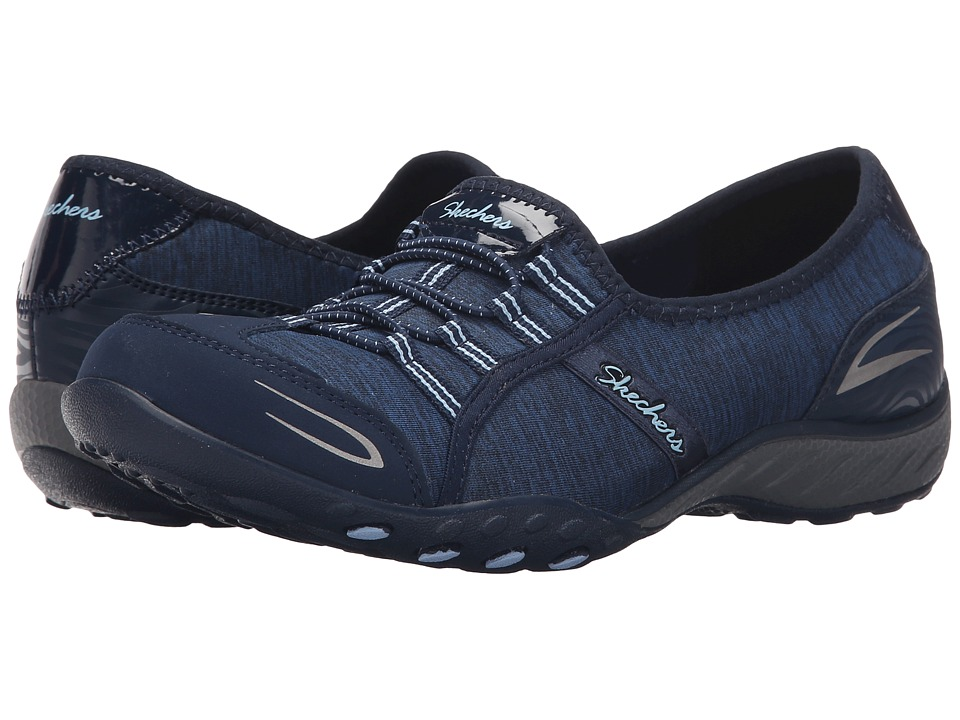 SKECHERS - Active Breathe Easy - Good Life (Navy) Women's Shoes
