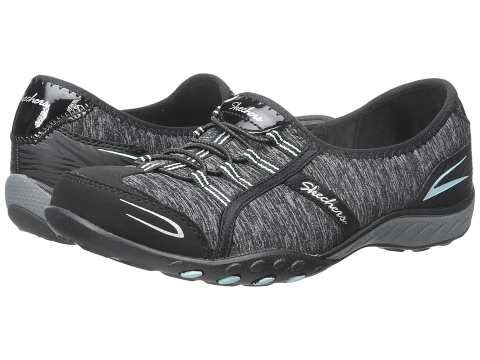 SKECHERS - Active Breathe Easy - Good Life (Black/Aqua) Women's Shoes