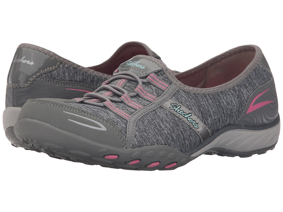 SKECHERS - Active Breathe Easy - Good Life (Grey/Pink) Women's Shoes
