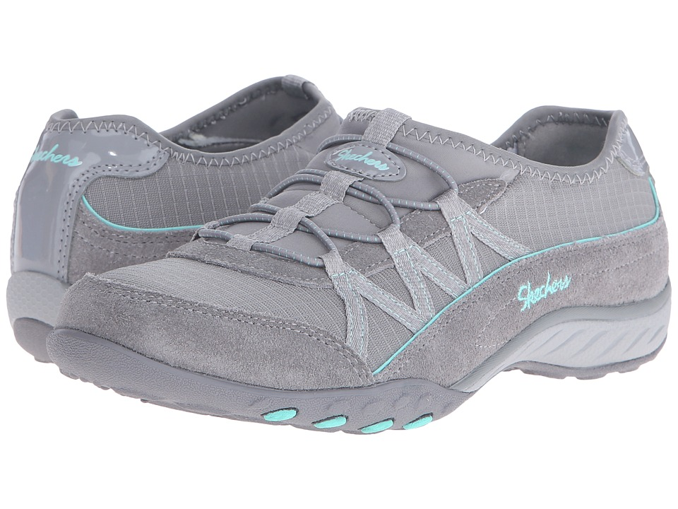 SKECHERS - Active Breathe Easy - Big Break (Gray) Women's Slip on Shoes