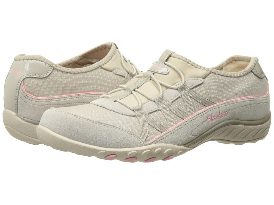 SKECHERS - Active Breathe Easy - Big Break (Natural) Women's Slip on Shoes