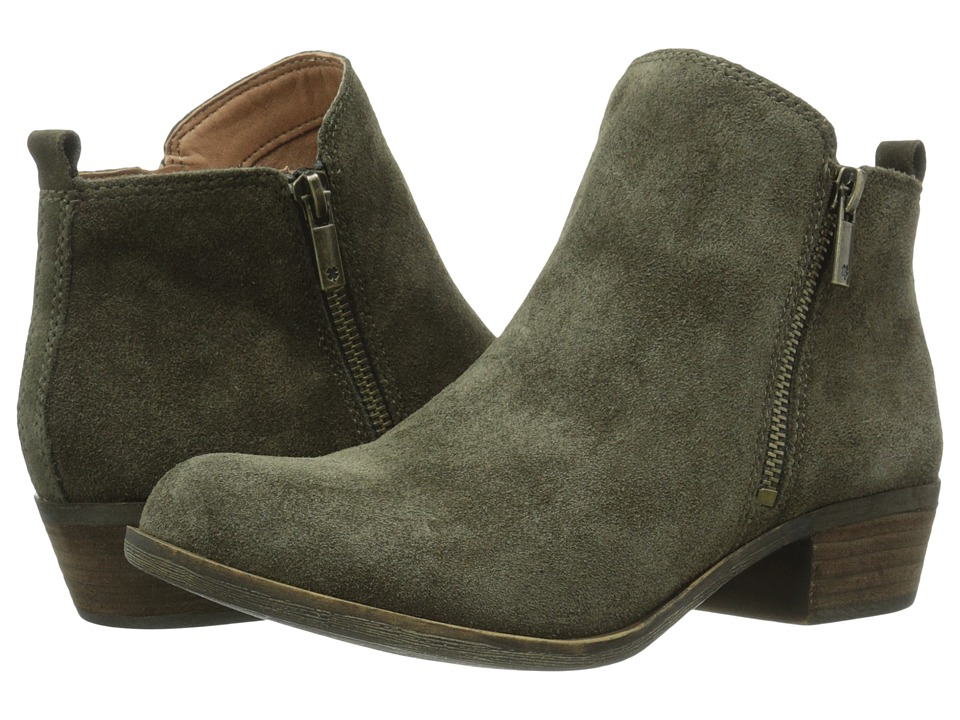 Lucky Brand - Basel (Italian Olive) Women's Zip Boots