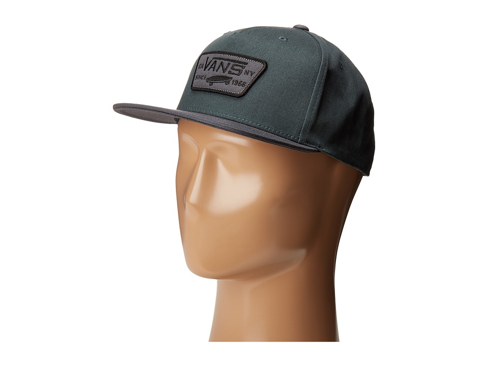 Vans - Full Patch Snapback Hat (Green Gables/Charcoal) Caps