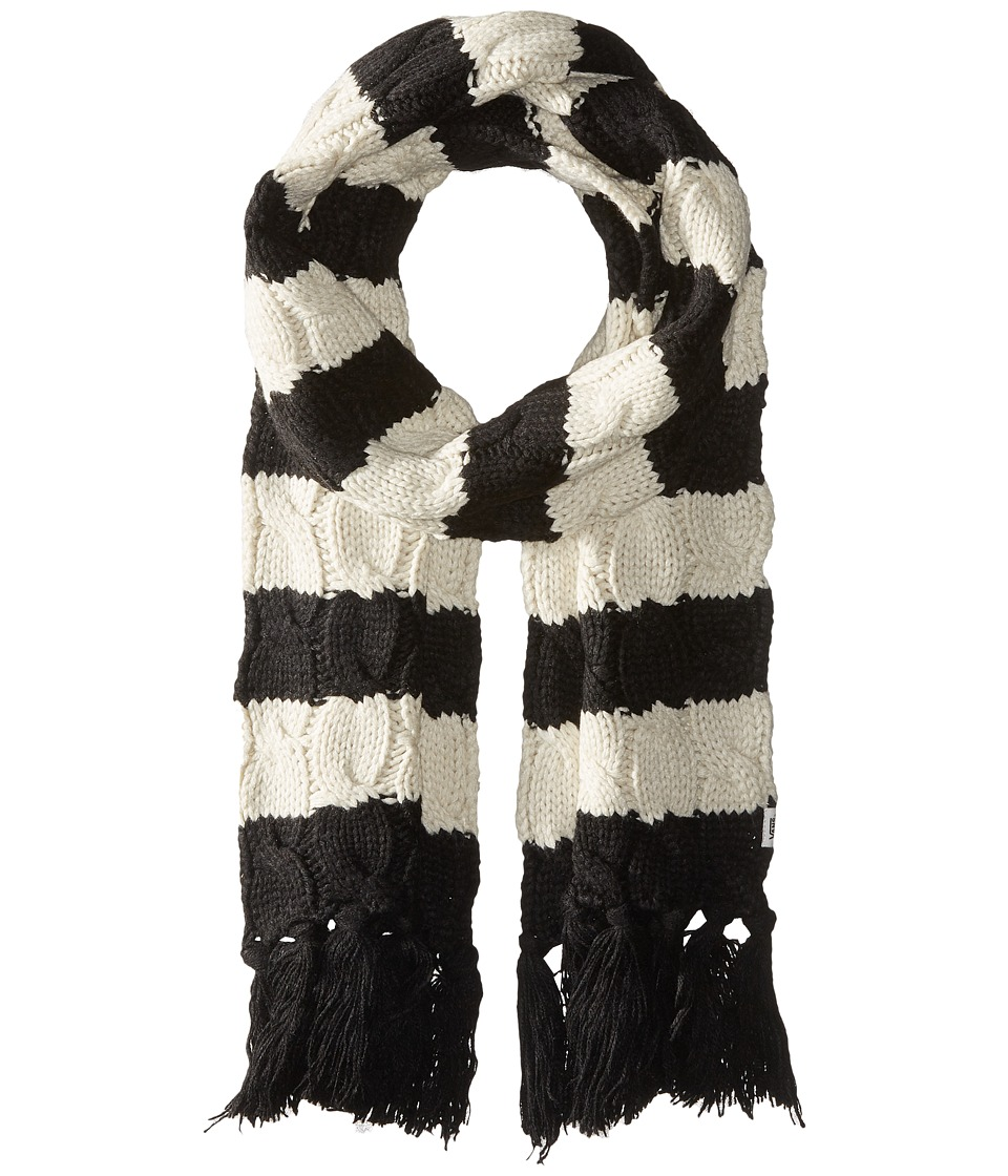 Vans - Wrap Me Up Scarf (Black/White Sand) Scarves