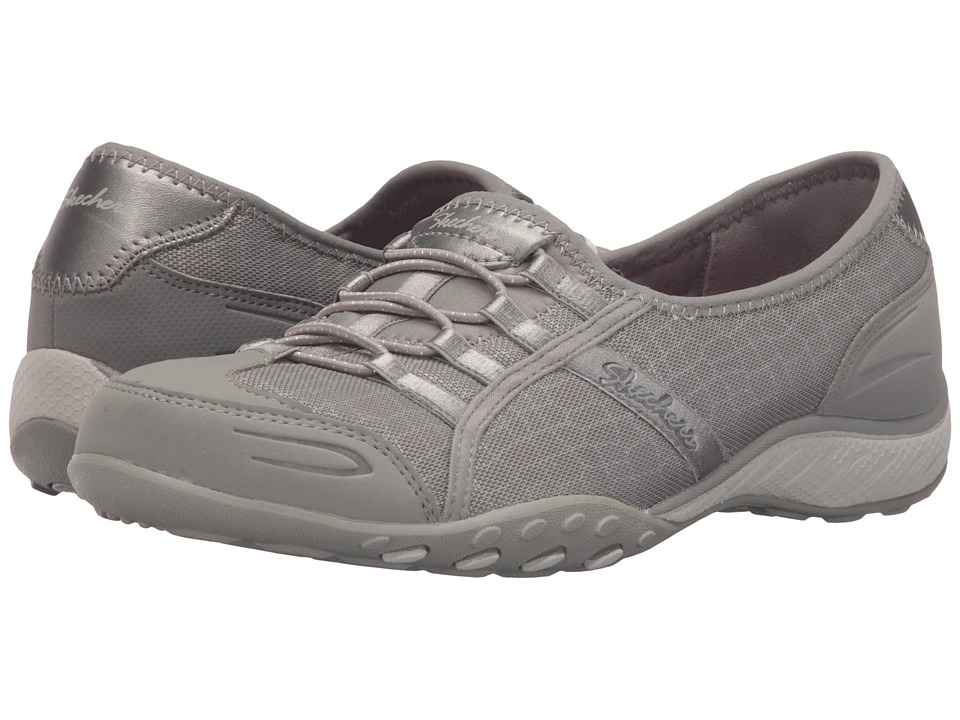 SKECHERS - Breathe - Easy - Spectacular (Taupe) Women's Lace up casual Shoes