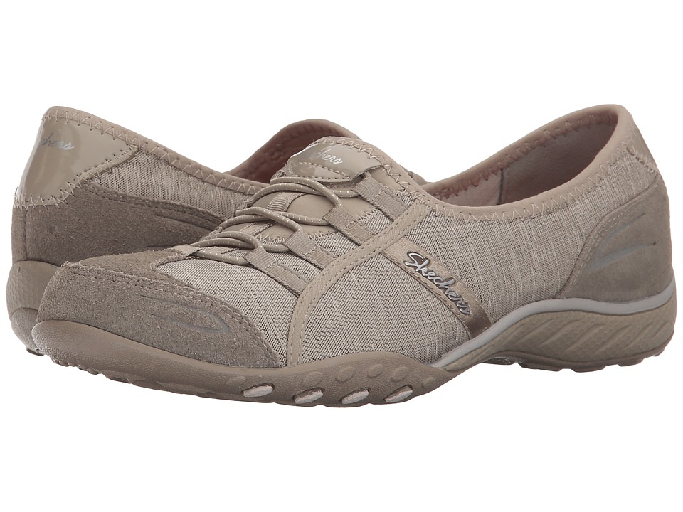 SKECHERS Active Breathe Easy Pretty Lady (Taupe) Women