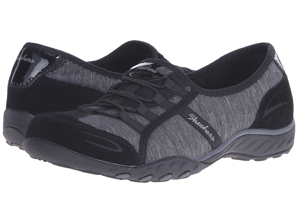 SKECHERS - Active Breathe Easy - Pretty Lady (Black) Women's Shoes