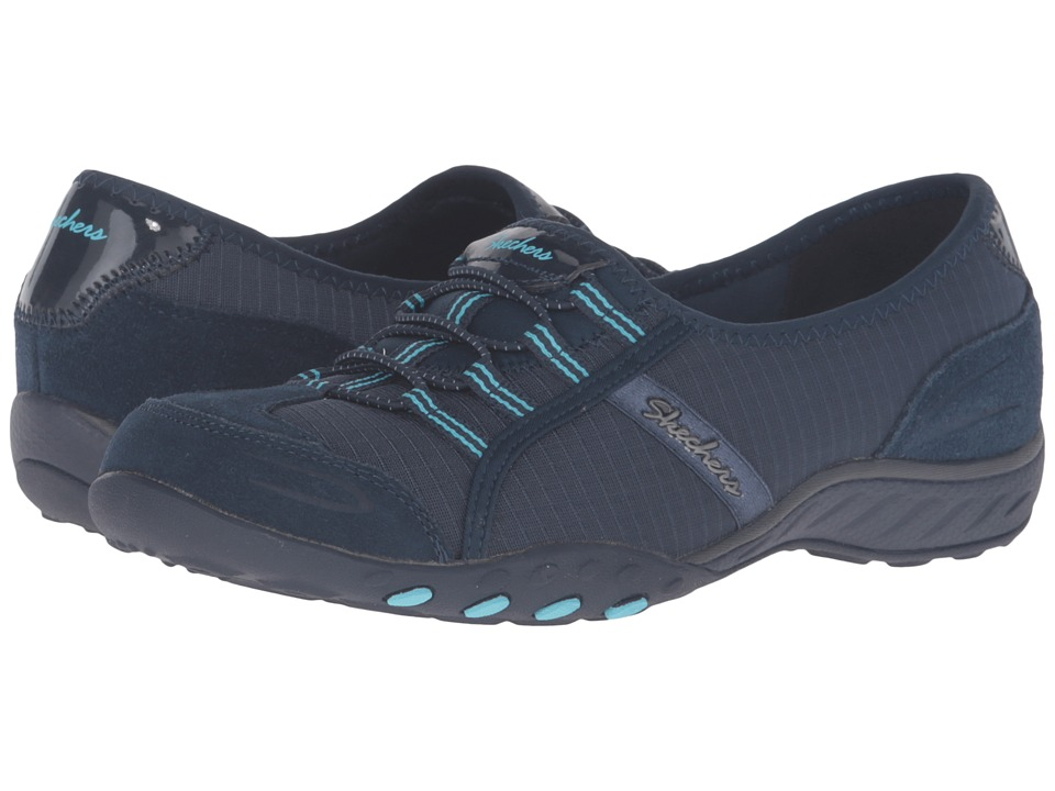 SKECHERS - Active Breathe Easy - Allure (Navy) Women's Slip on Shoes