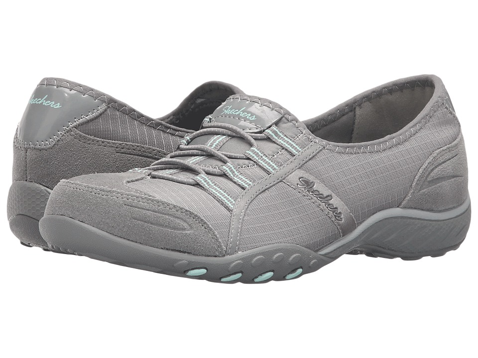 SKECHERS - Active Breathe Easy - Allure (Gray) Women's Slip on Shoes