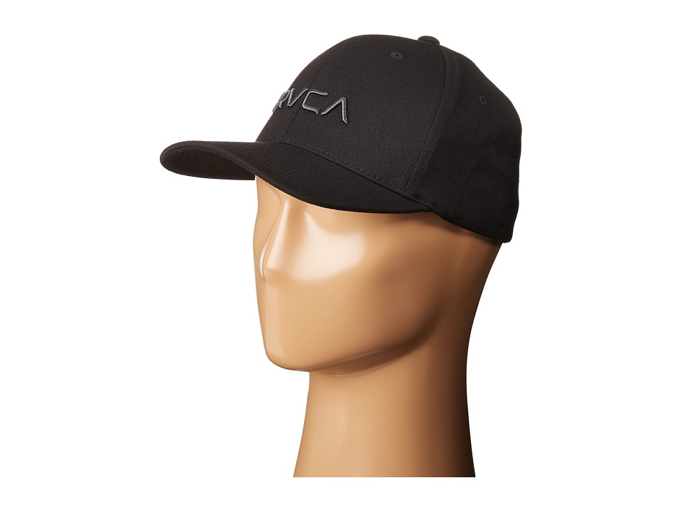 RVCA - Flex Fit (Black) Caps