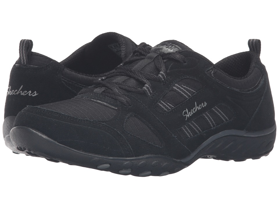 SKECHERS - Active Breathe Easy - Good Luck (Black) Women's Shoes