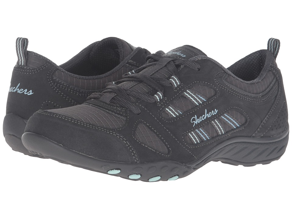 SKECHERS - Active Breathe Easy - Good Luck (Charcoal) Women's Shoes