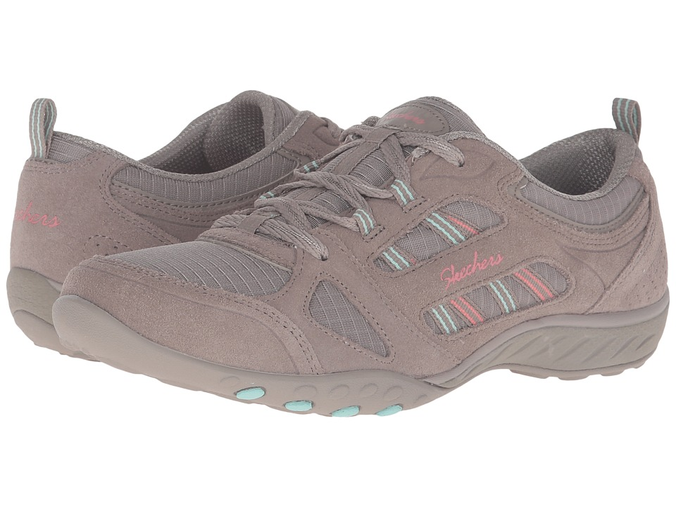 SKECHERS - Active Breathe Easy - Good Luck (Taupe) Women's Shoes