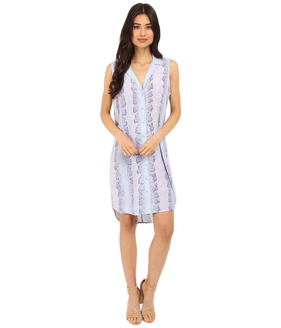 EQUIPMENT - Sleeveless Adalyn Dress (Periwinkle Multi) Women's Dress