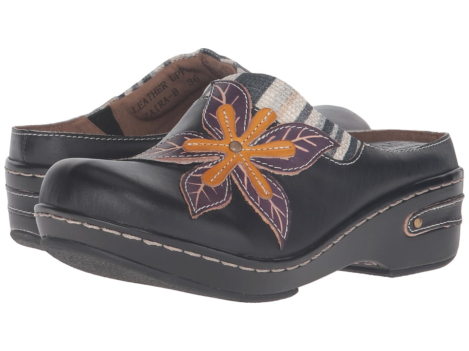 Spring Step - Zaira (Black) Women's Clog/Mule Shoes