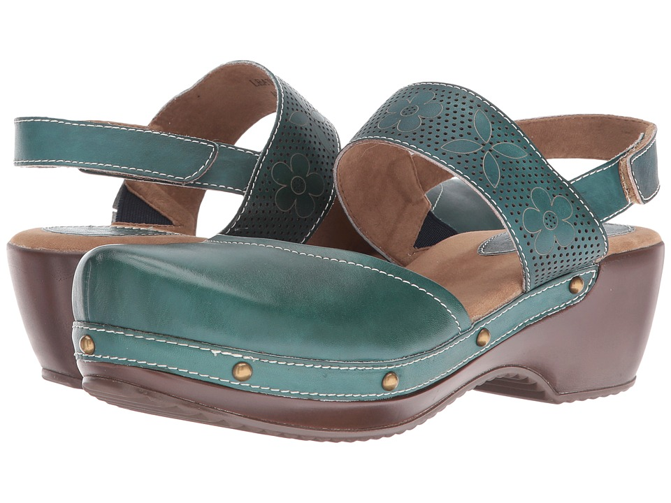 Spring Step - Amadi (Teal) Women's Clog/Mule Shoes